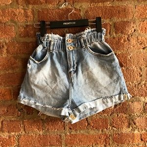 Zara High Waist Denim Shorts